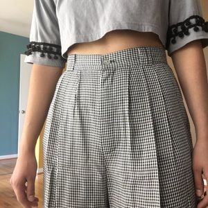 High Waisted Vintage Gingham Shorts